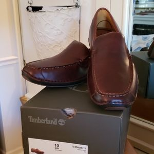 NIB Timberland Brown Leather Driving Loafers